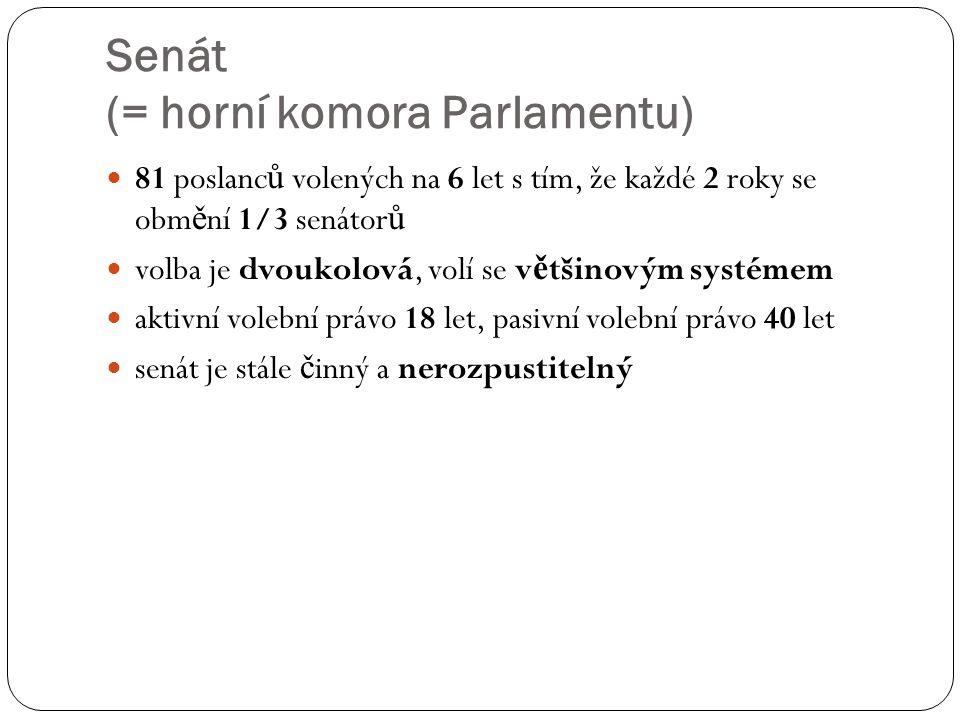 Senát (= horní komora Parlamentu)