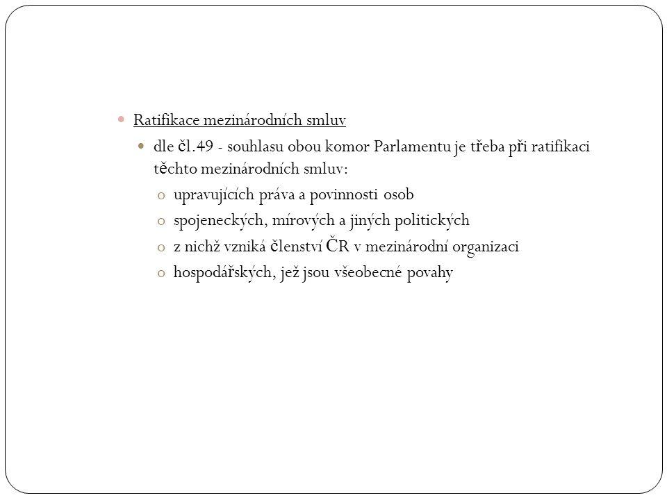Ratifikace mezinárodních smluv