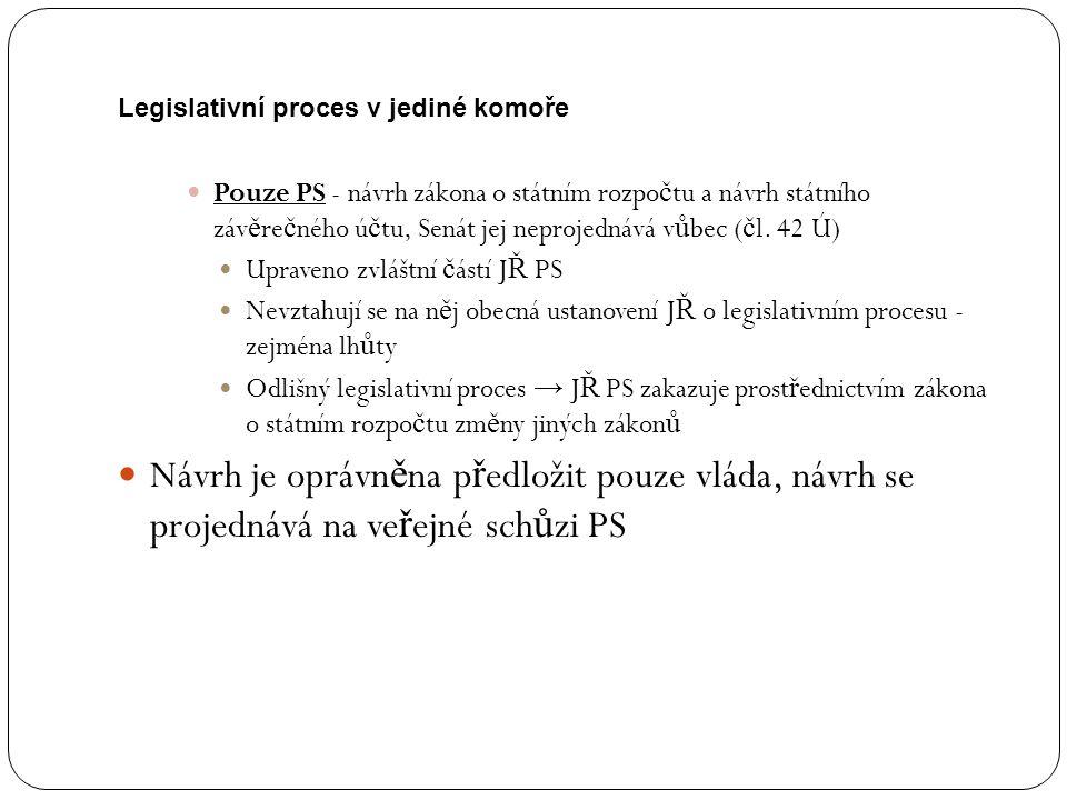Legislativní proces v jediné komoře