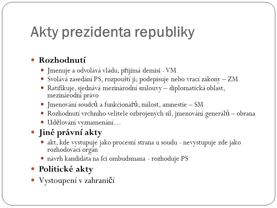 Akty prezidenta republiky