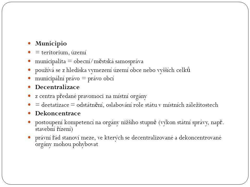 Municipio = teritorium, území. municipalita = obecní/městská samospráva. používá se z hlediska vymezení území obce nebo vyšších celků.