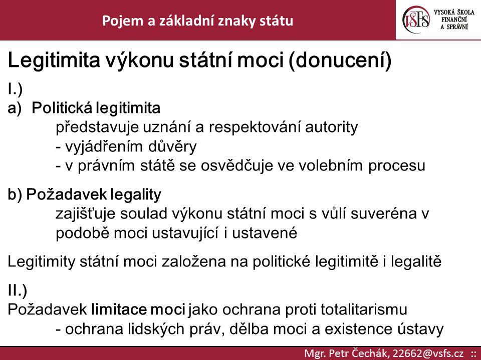 Pojem a základní znaky státu