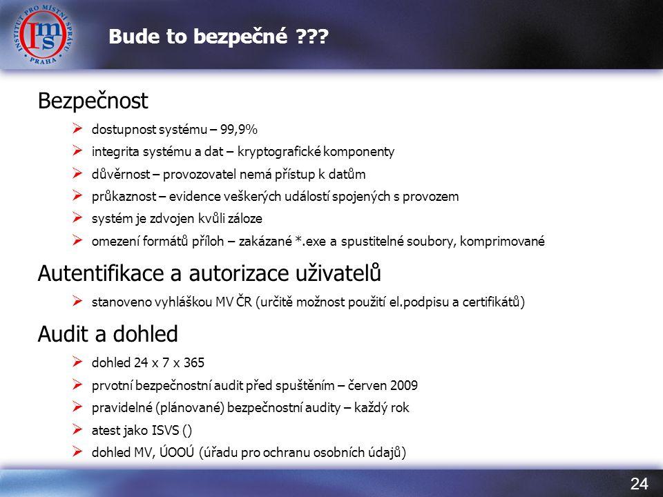 Autentifikace a autorizace uživatelů Audit a dohled
