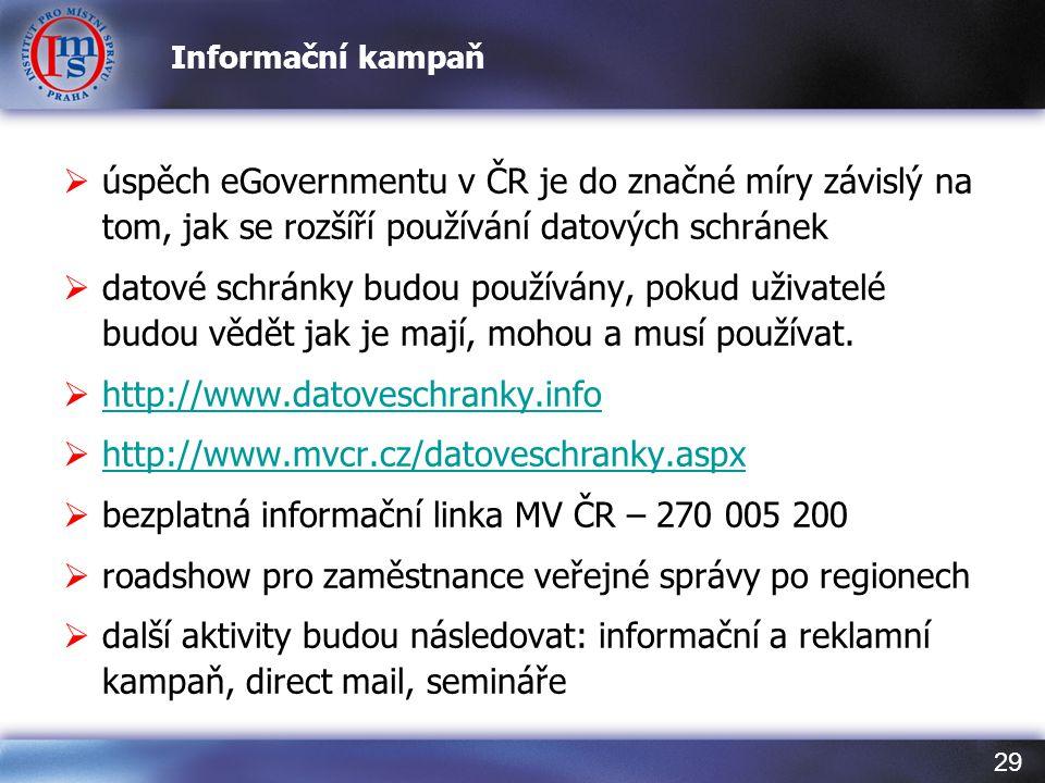 bezplatná informační linka MV ČR – 270 005 200