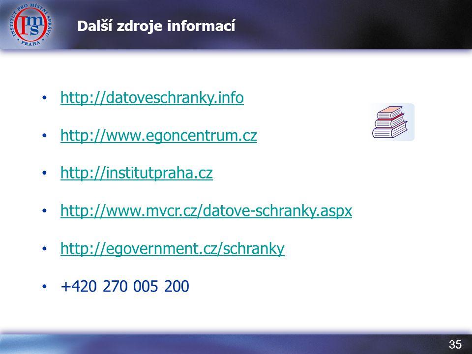 Další zdroje informací