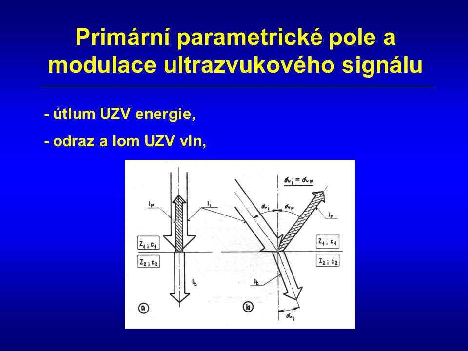 Primární parametrické pole a modulace ultrazvukového signálu