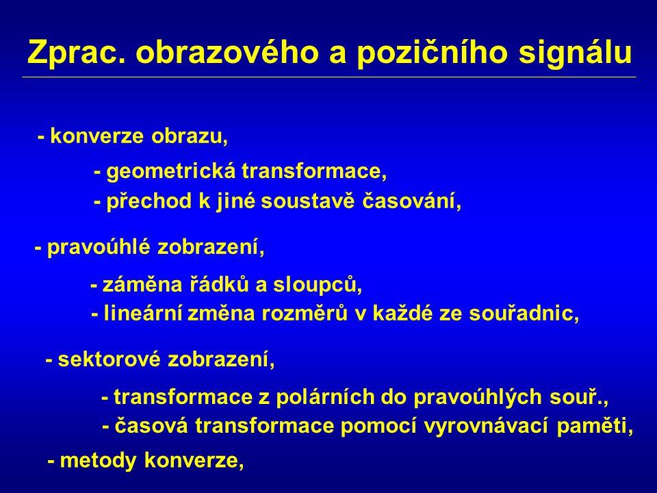 Zprac. obrazového a pozičního signálu