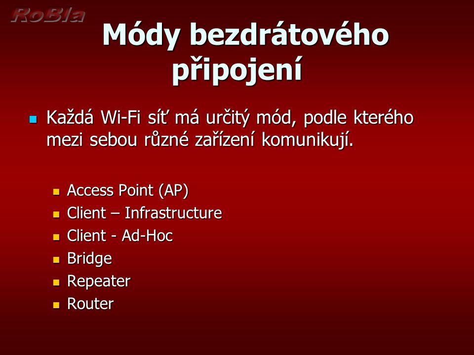 Módy bezdrátového připojení