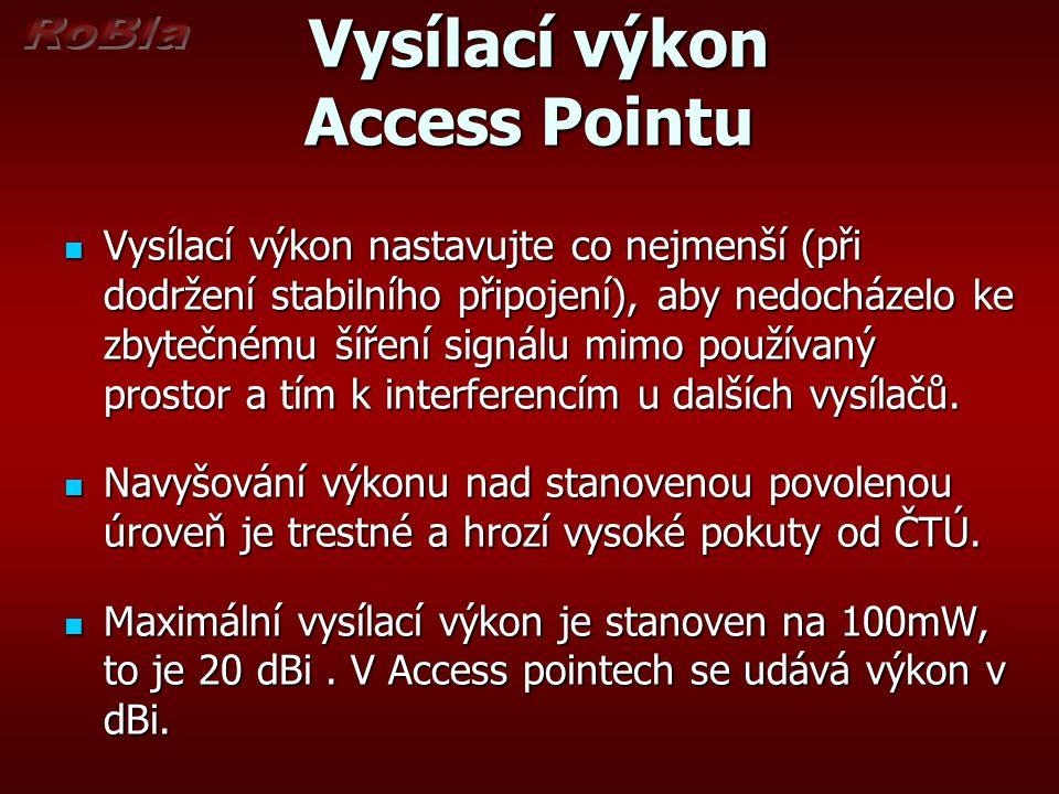 Vysílací výkon Access Pointu