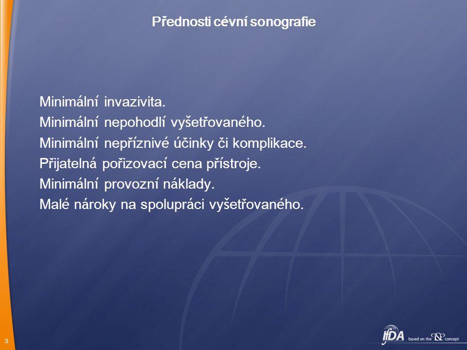 Přednosti cévní sonografie