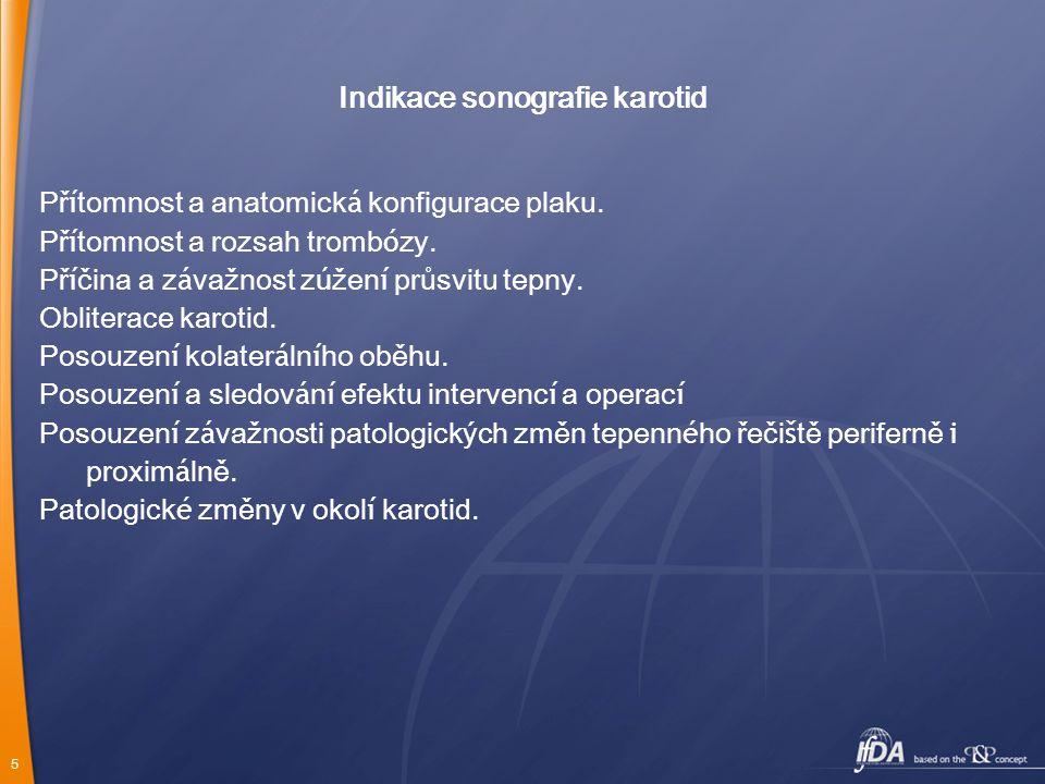 Indikace sonografie karotid