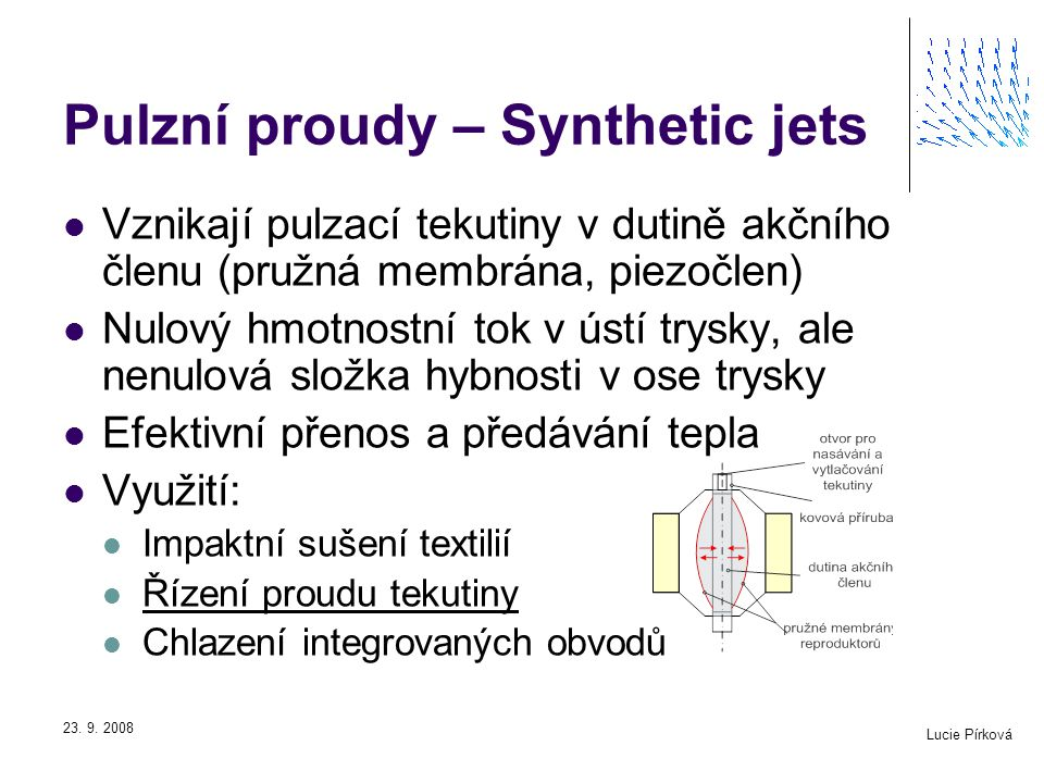 Pulzní proudy – Synthetic jets