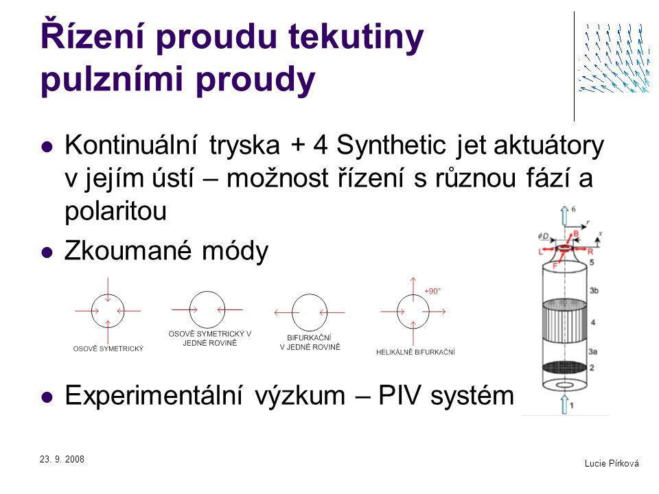Řízení proudu tekutiny pulzními proudy