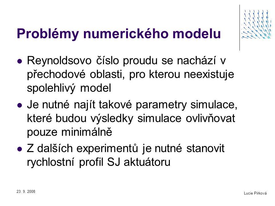 Problémy numerického modelu