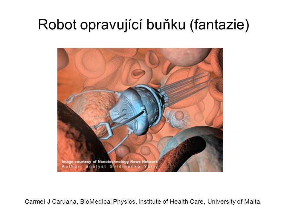 Robot opravující buňku (fantazie)
