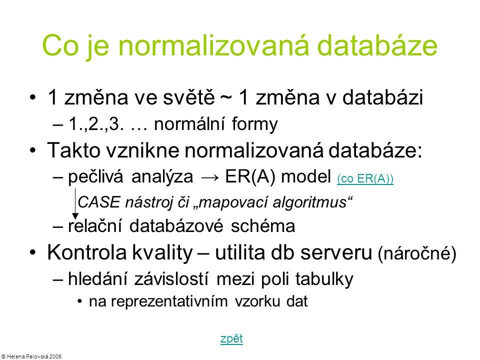 Co je normalizovaná databáze