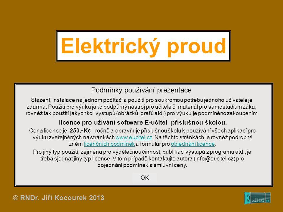 Elektrický proud Podmínky používání prezentace