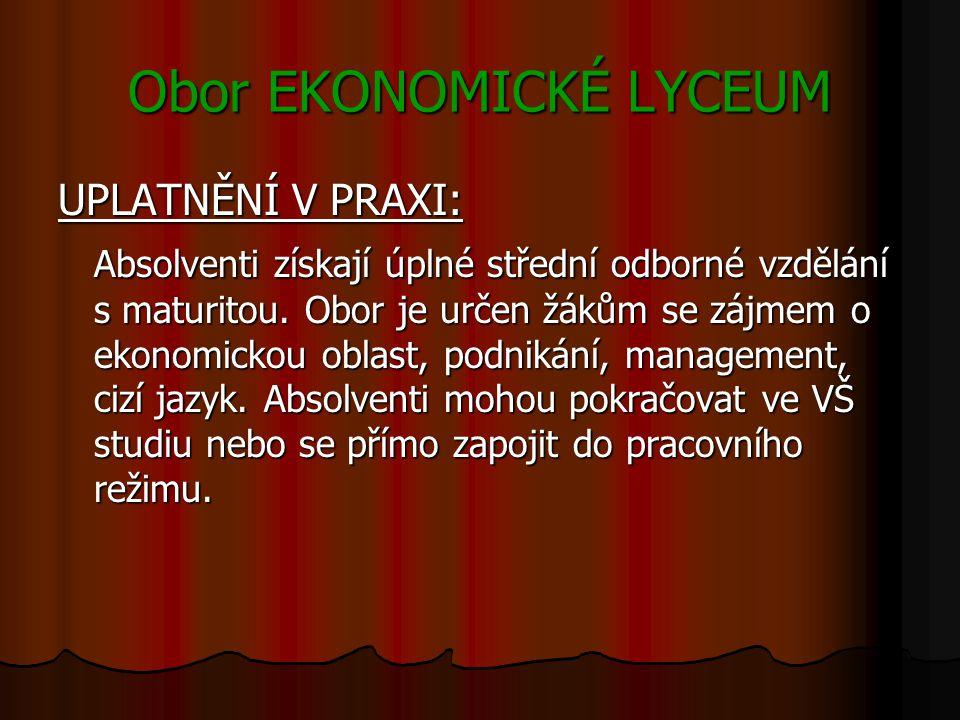 Obor EKONOMICKÉ LYCEUM