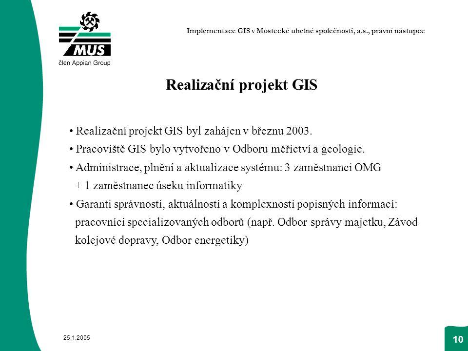 Realizační projekt GIS