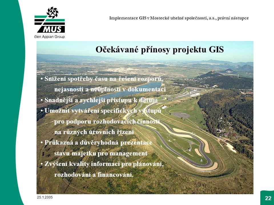 Očekávané přínosy projektu GIS