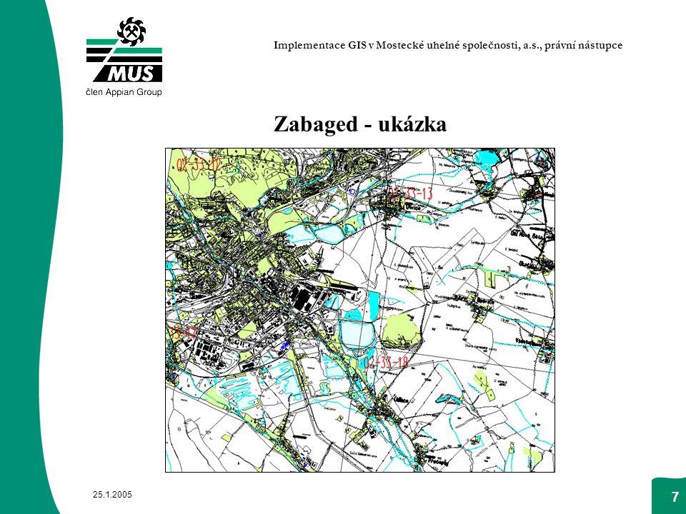 Implementace GIS v Mostecké uhelné společnosti, a.s., právní nástupce