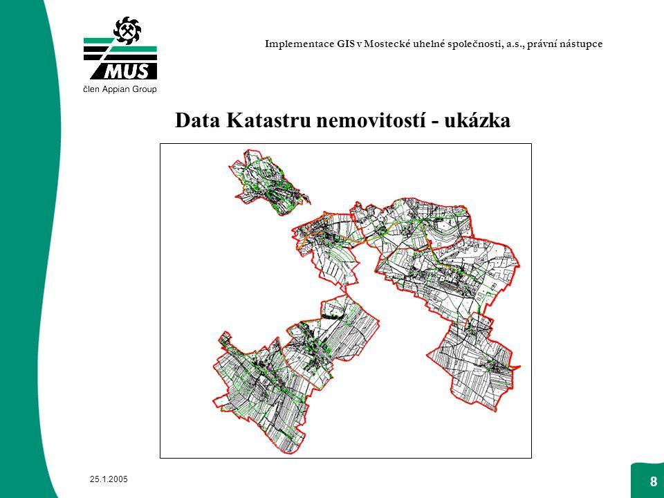 Data Katastru nemovitostí - ukázka