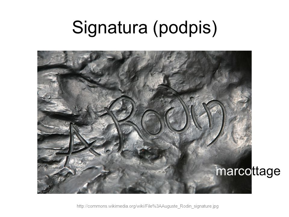 Signatura (podpis) marcottage