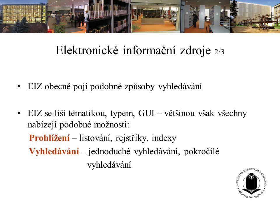 Elektronické informační zdroje 2/3