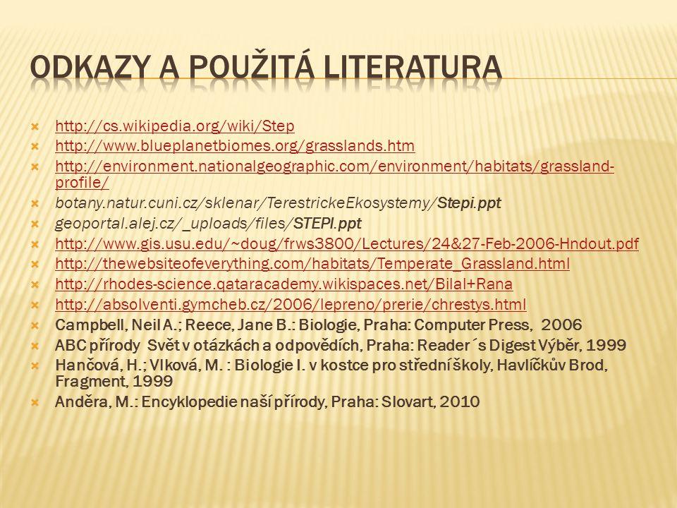 Odkazy a použitá literatura