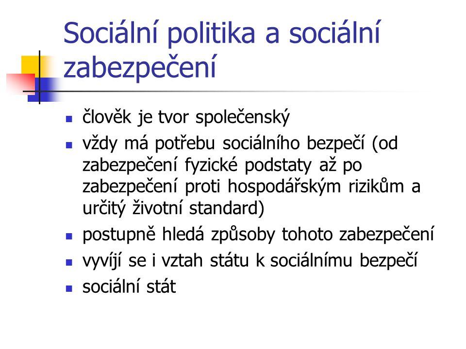 Sociální politika a sociální zabezpečení