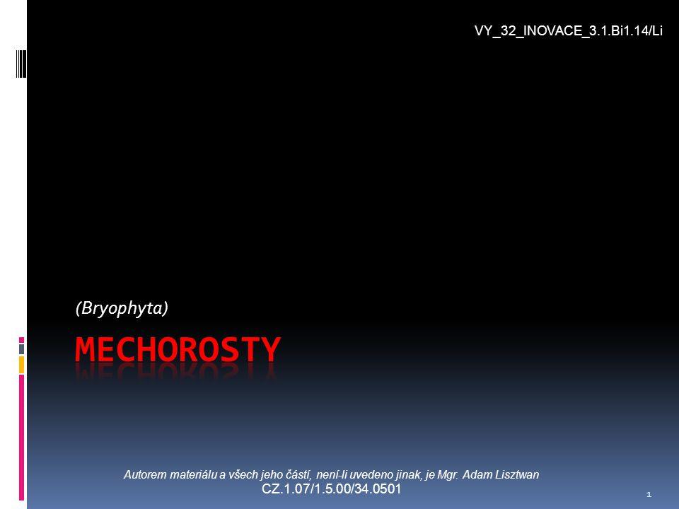 Mechorosty (Bryophyta) VY_32_INOVACE_3.1.Bi1.14/Li