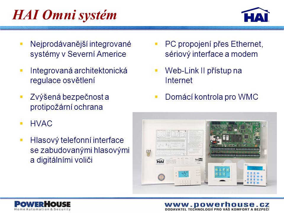 HAI Omni systém Nejprodávanější integrované systémy v Severní Americe