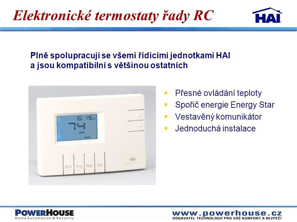 Elektronické termostaty řady RC