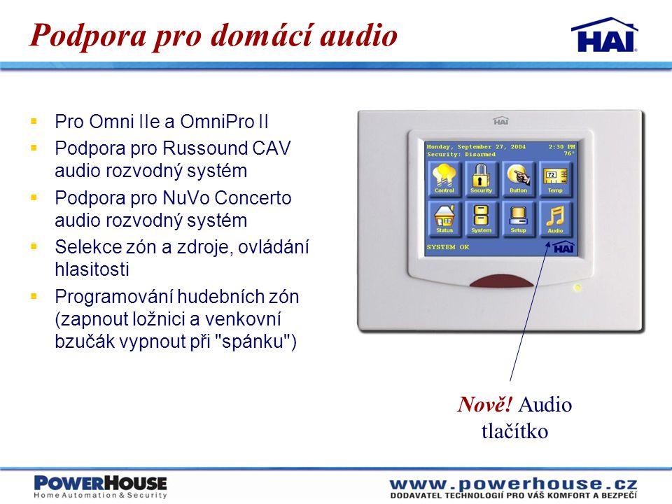 Podpora pro domácí audio