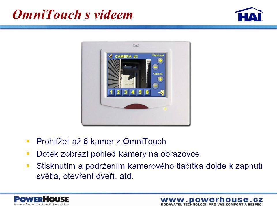 OmniTouch s videem Prohlížet až 6 kamer z OmniTouch