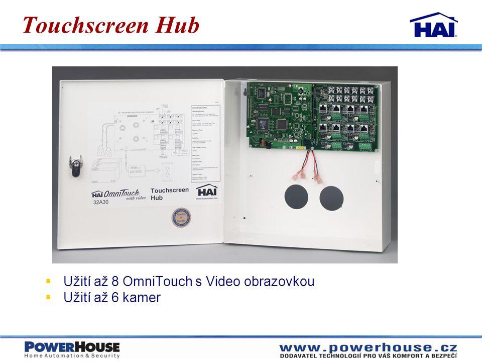 Touchscreen Hub Užití až 8 OmniTouch s Video obrazovkou