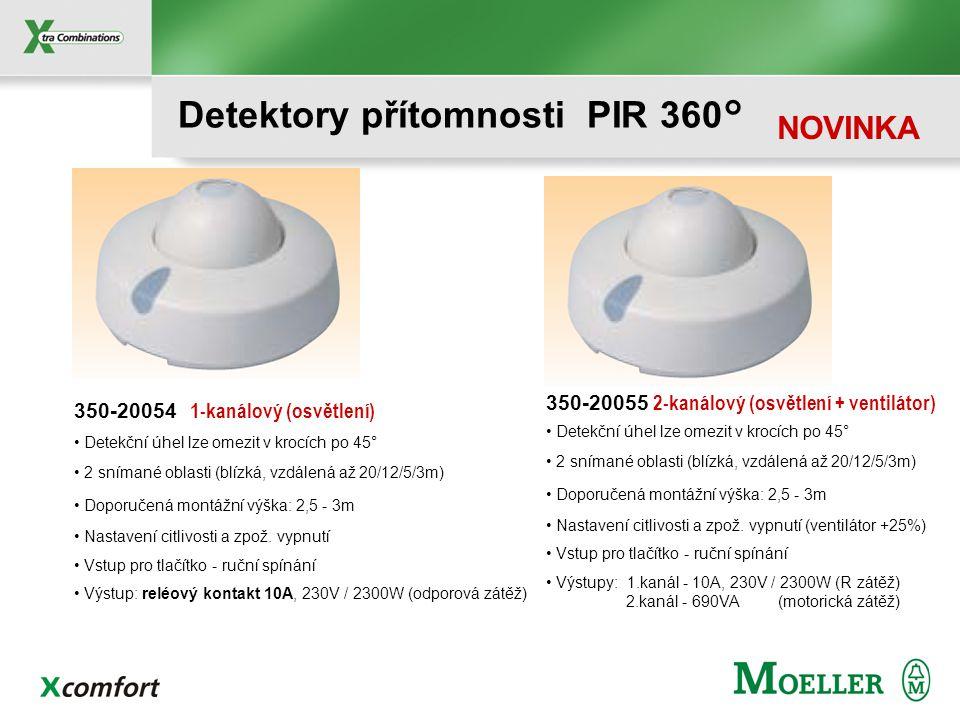 Detektory přítomnosti PIR 360°