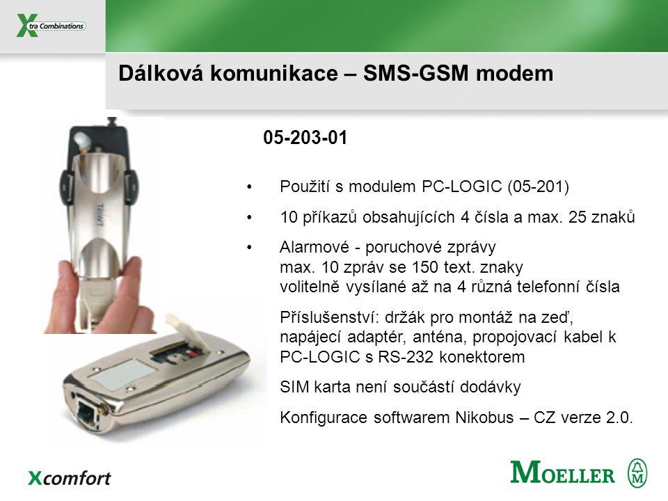 Dálková komunikace – SMS-GSM modem