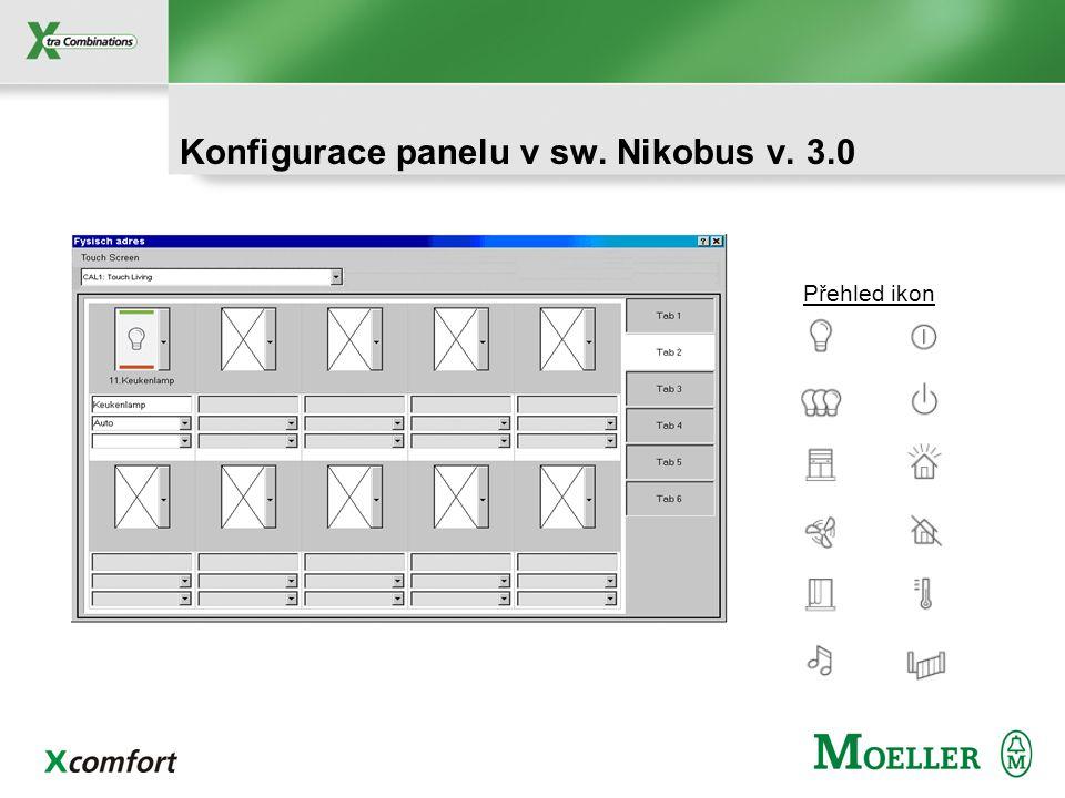 Konfigurace panelu v sw. Nikobus v. 3.0