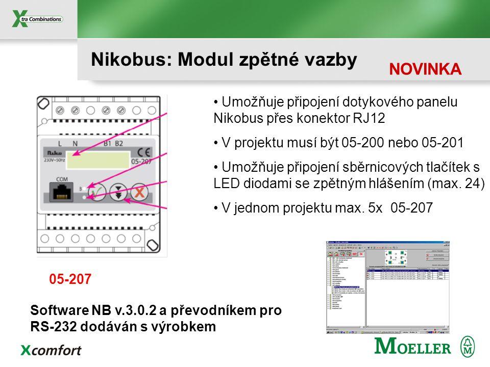 Nikobus: Modul zpětné vazby