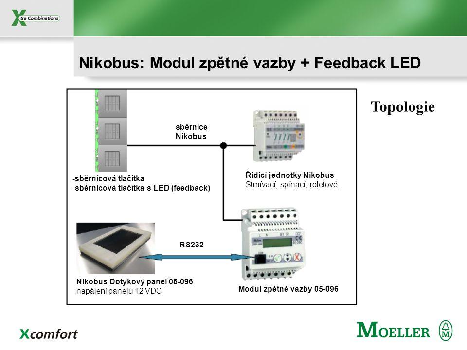 Nikobus: Modul zpětné vazby + Feedback LED
