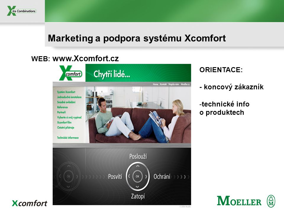 Marketing a podpora systému Xcomfort