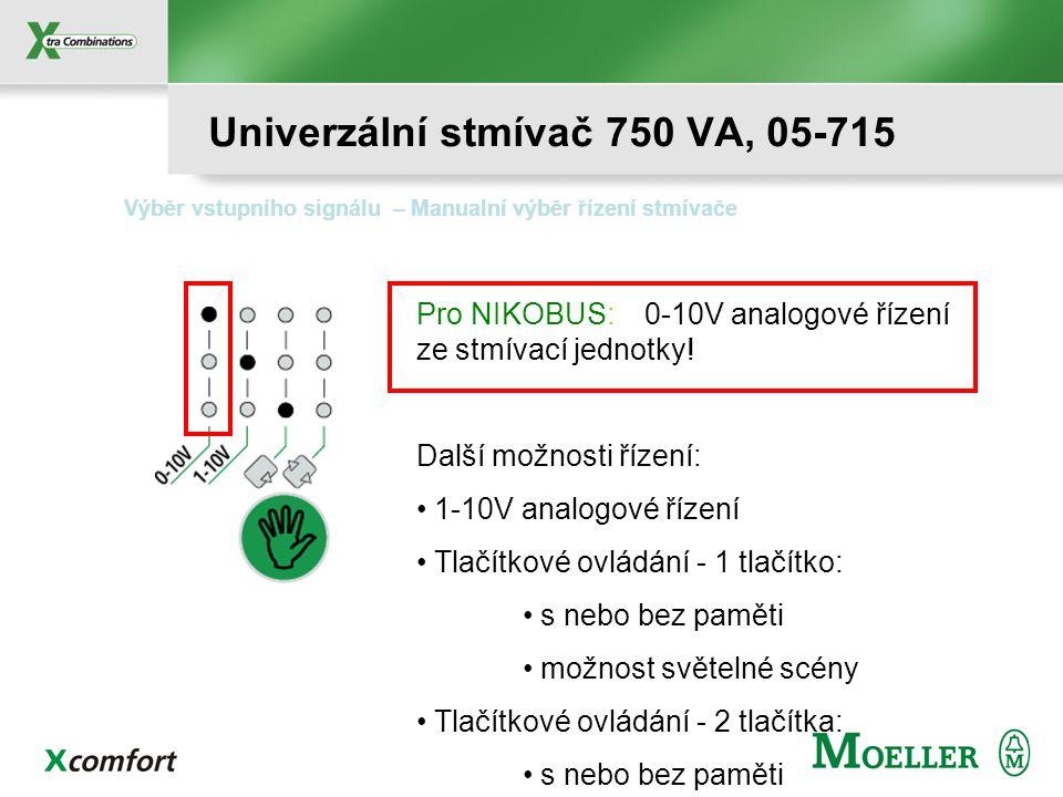 Univerzální stmívač 750 VA, 05-715