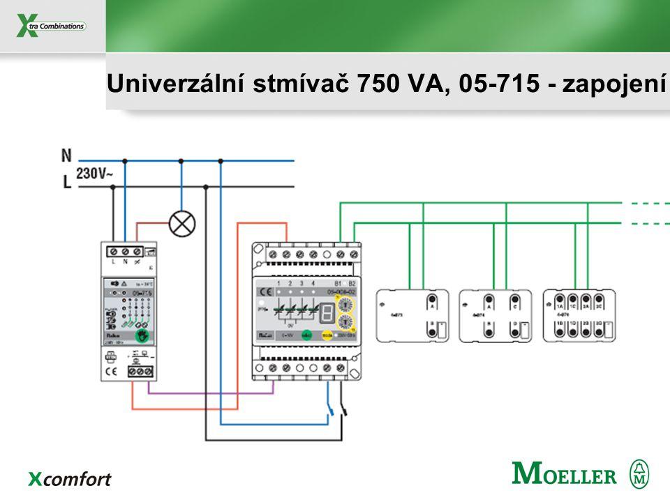Univerzální stmívač 750 VA, 05-715 - zapojení