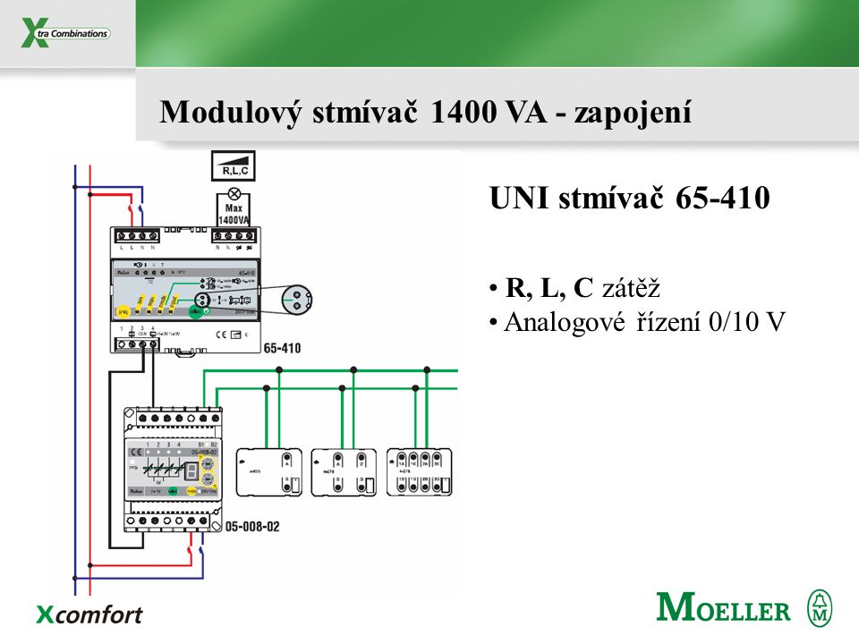 Modulový stmívač 1400 VA - zapojení