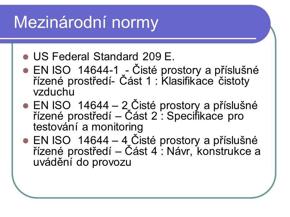 Mezinárodní normy US Federal Standard 209 E.