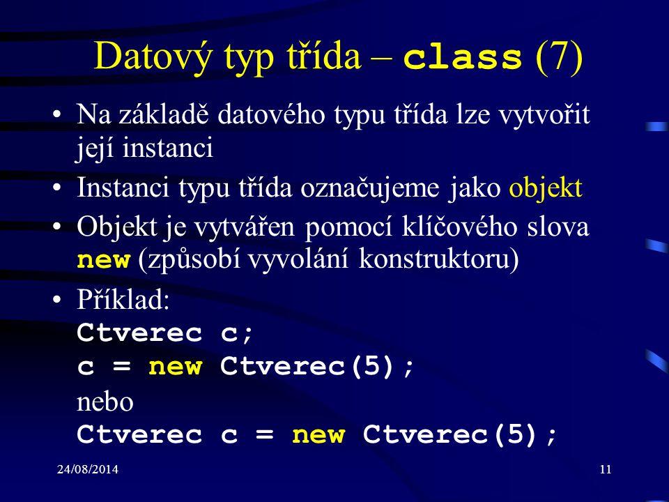 Datový typ třída – class (7)