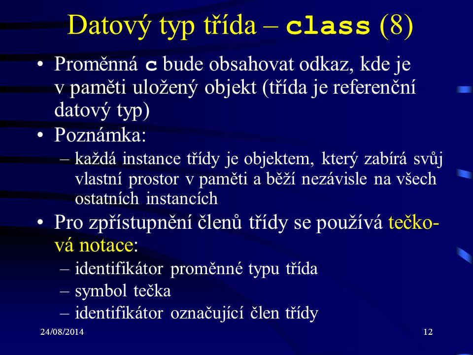 Datový typ třída – class (8)