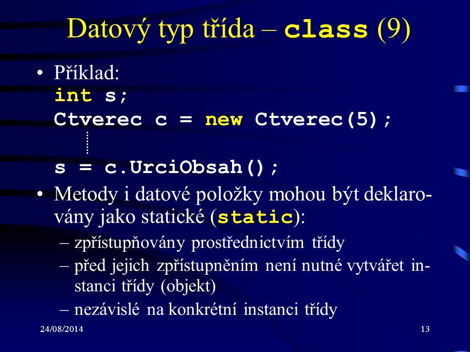 Datový typ třída – class (9)