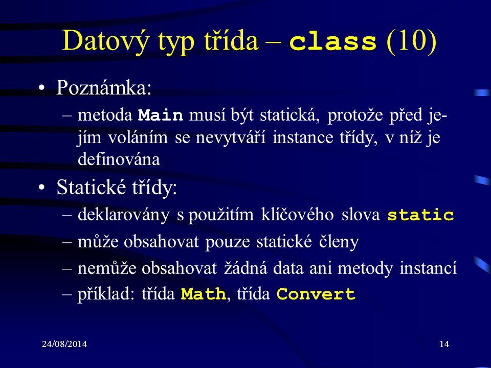 Datový typ třída – class (10)